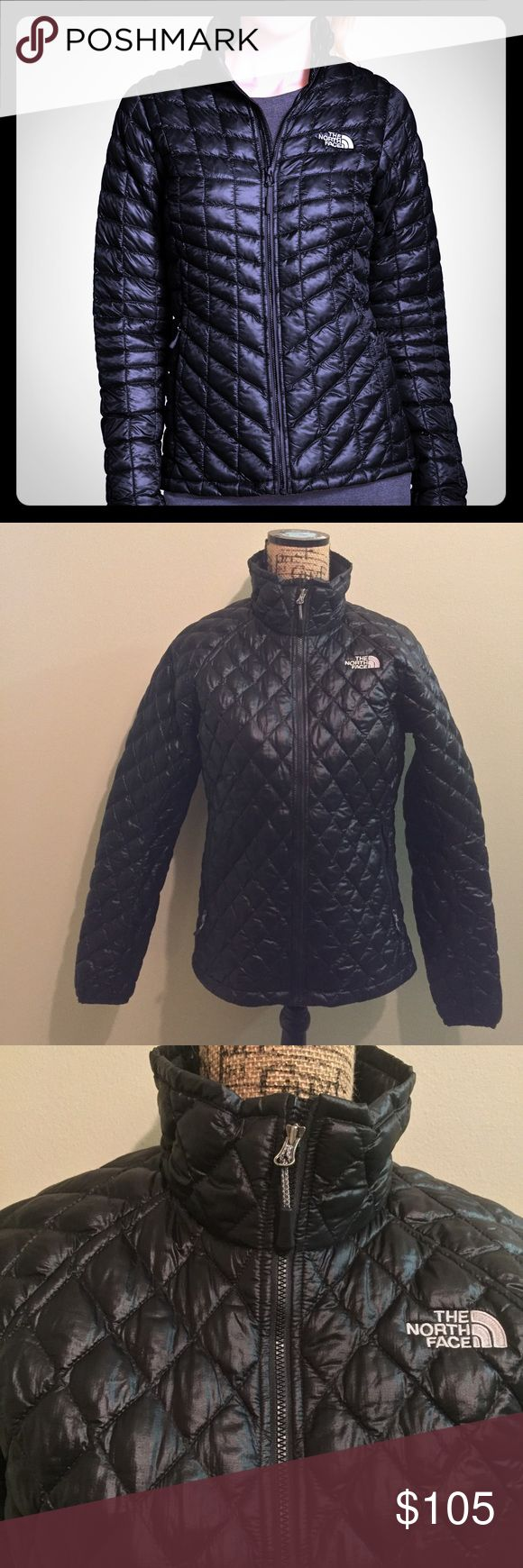North Face Thermoball Jacket NWOT Quilted black jacket by North Face. Extremely warm, but can be compressed very small. Lightweight AND warm enough for winter. NWOT. Size M. North Face Jackets & Coats