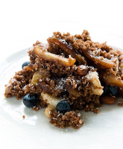 Quinoa met dadels en chocolade