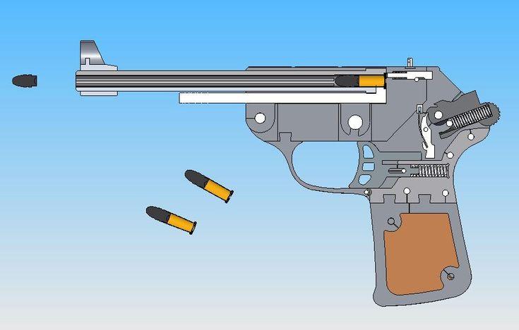 Single shot pistol - SOLIDWORKS - 3D CAD model - GrabCAD