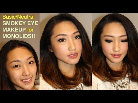 naked 2 basic neutral smokey eye makeup for monolids