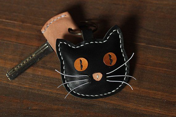 100% Handmade Cat Key chains – Cute Animal Key ring – Cat Bag Charm Good Luck Party Favors Gift