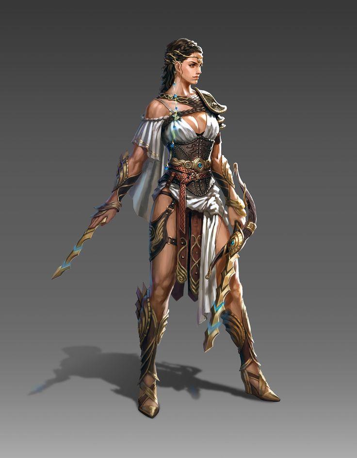 f Ranger Med Armor Longbow Sword ArtStation - 비수를 사용하는 전사, seo hee(angpho)