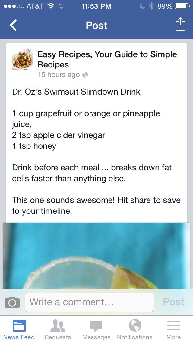 Dr Oz diet drink