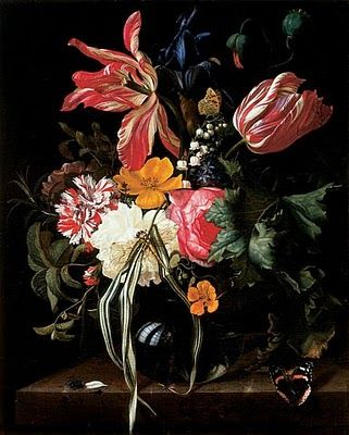Early American Gardens: Flower Still Lifes Instead of Real Flowers in the 17th-Century