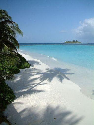 White sand, blue sea at Vakarufalhi Dhoni Jetty, Maldives, Indian Ocean. Beach Holidays - Community - Google+