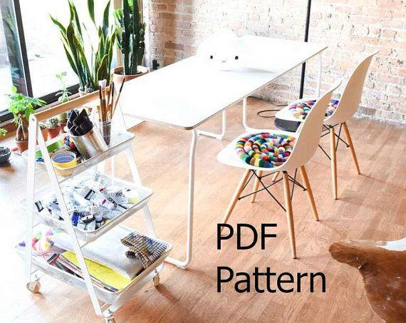 Knitted Chair Pad PDF Pattern DIY Rocking Chair Pad by WaveSong