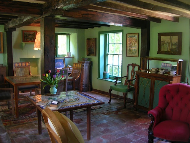 Monk S House Rodmell The Living Room Green On Green