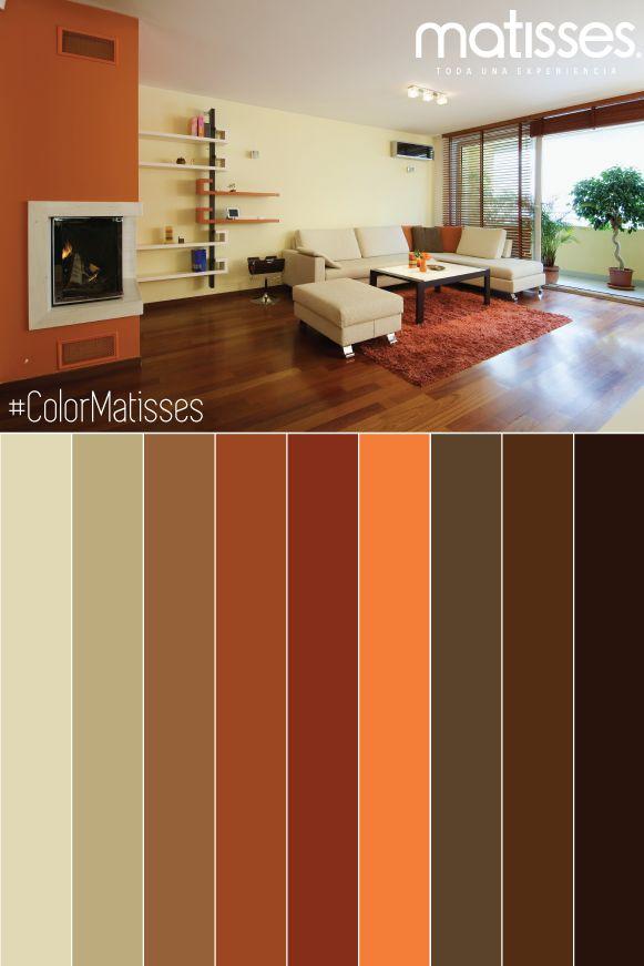 Las 25 mejores ideas sobre colores de pintura exterior en - Pared naranja combina con ...