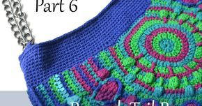 Today is the day with very mixed emotions. It's Wednesday again, and time for last crochet part of Peacock Tail Bag CAL to be released...