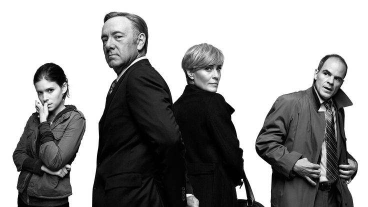 House of Cards... I don't watch a lot of tv but I'm glued!!!! Dang Kevin S .... Makes me want more ; )
