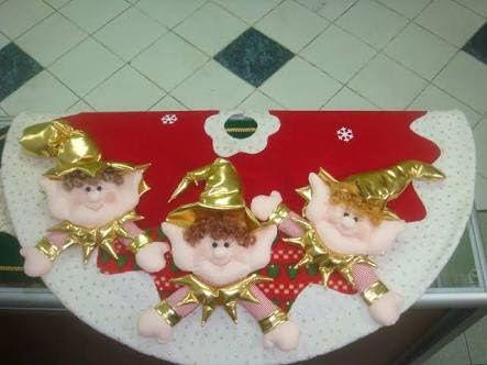 Resultado de imagen para duendes navideños en fieltro con moldes