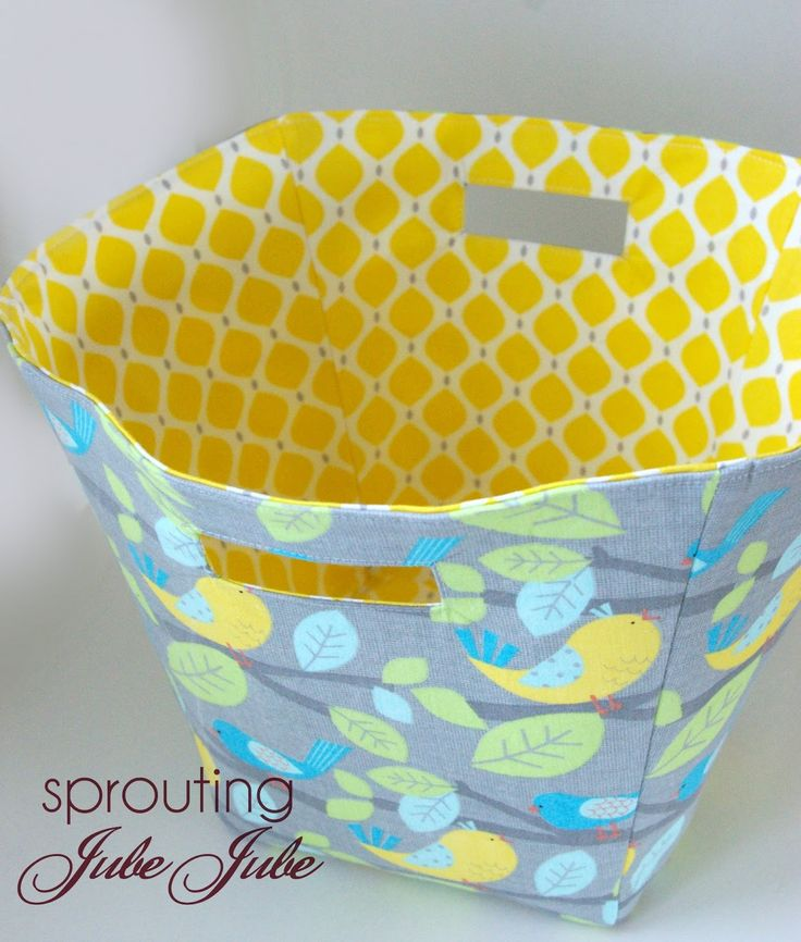 Fabric Basket Tutorial Size For Gift Giving Or Toy Storage