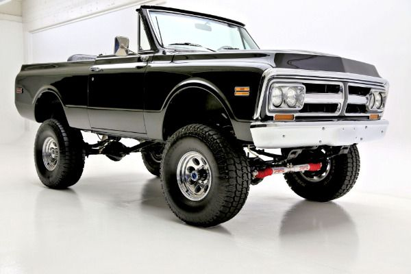 1972 GMC Jimmy Black 4WD, Black Interior - American Dream Machines | Classic and Muscle Cars