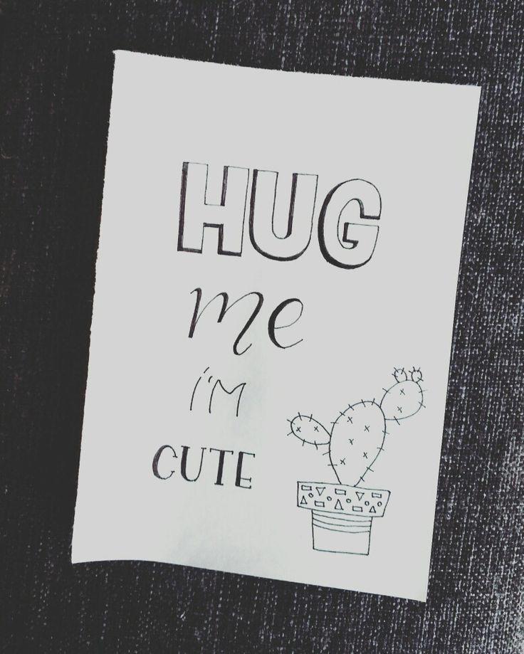 Hug me i'm cute  Dit leuke kaartje en nog veel meer zijn te vinden in mijn webshop; www.doralijn.jouwweb.nl . . #doralijn #dutchlettering #letterart #lettering #modernlettering #handletteren #letters #handlettering #handlettered #handgeschreven #handdrawn #handwritten #creativelettering #creativewriting #creatief #typography #typografie #moderncalligraphy #handmadefont #handgemaakt #sketch #doodle #draw #tekening #illustrator #illustration #typespire #dailytype #quote #cute