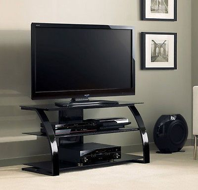 TV Entertainment Center Flat Screen Stand Up To 46 Inch Television Black NEW