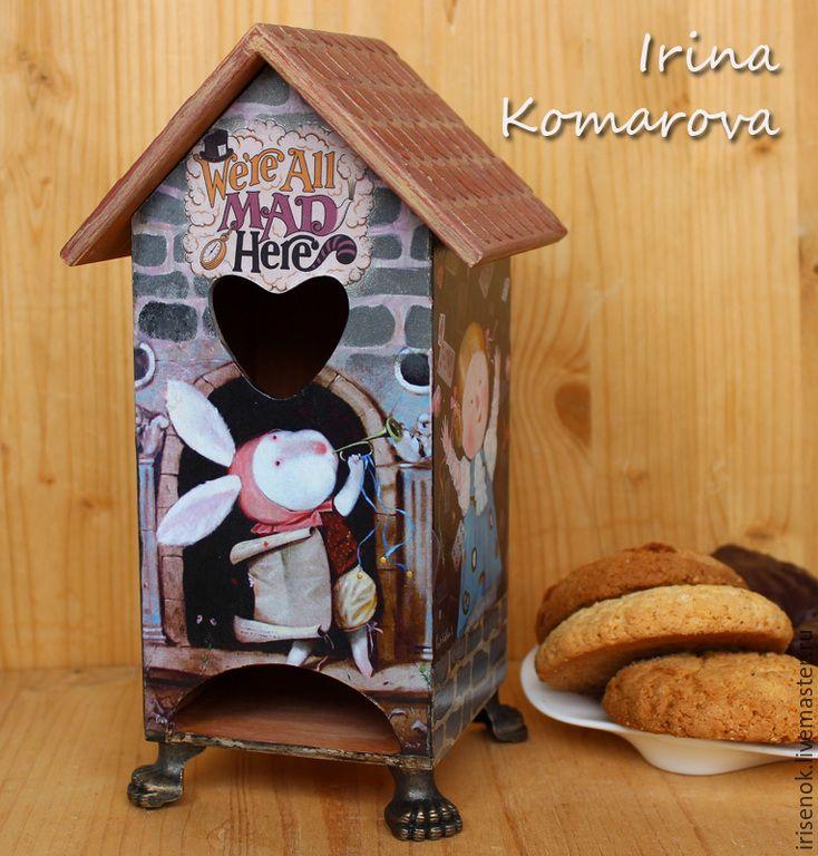 """Купить """"Алиса в Стране Чудес"""", чайный домик - разноцветный, гапчинская, чайный домик, Декупаж"""