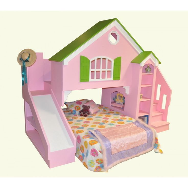 Best Tanglewood Design Dollhouse Bed Plans With Optional Slide 400 x 300
