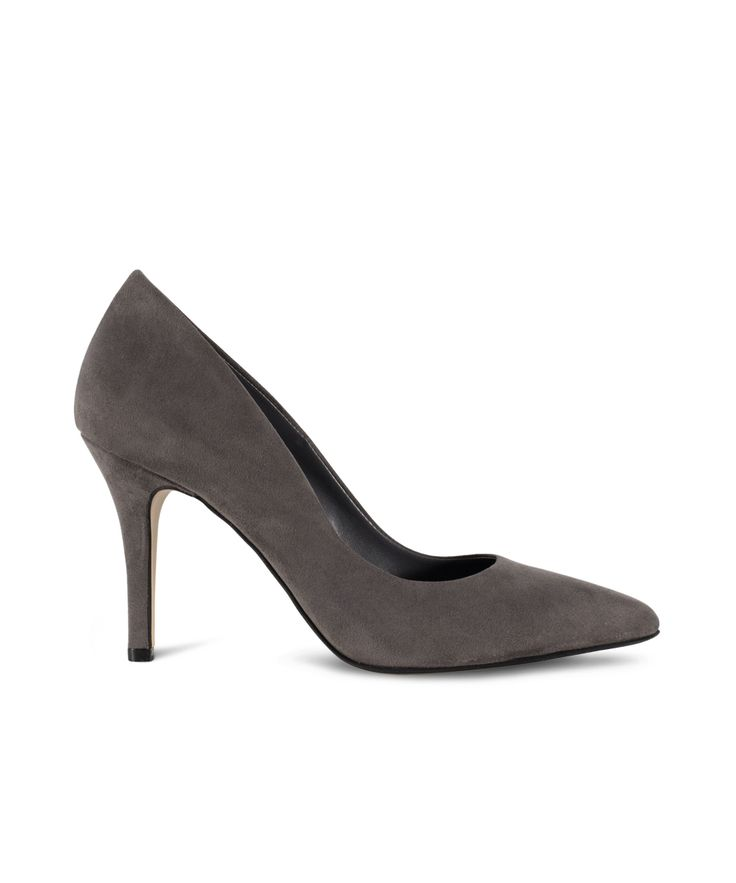 SANTE classic pointed toe pump for comfy feminine styles... Grey