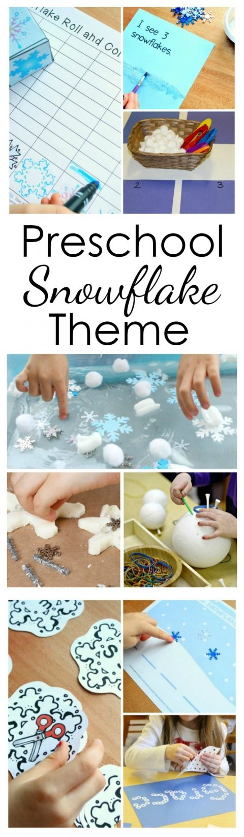 Use these preschool snowflake activities for a full week of playful winter learning at home or in the classroom.