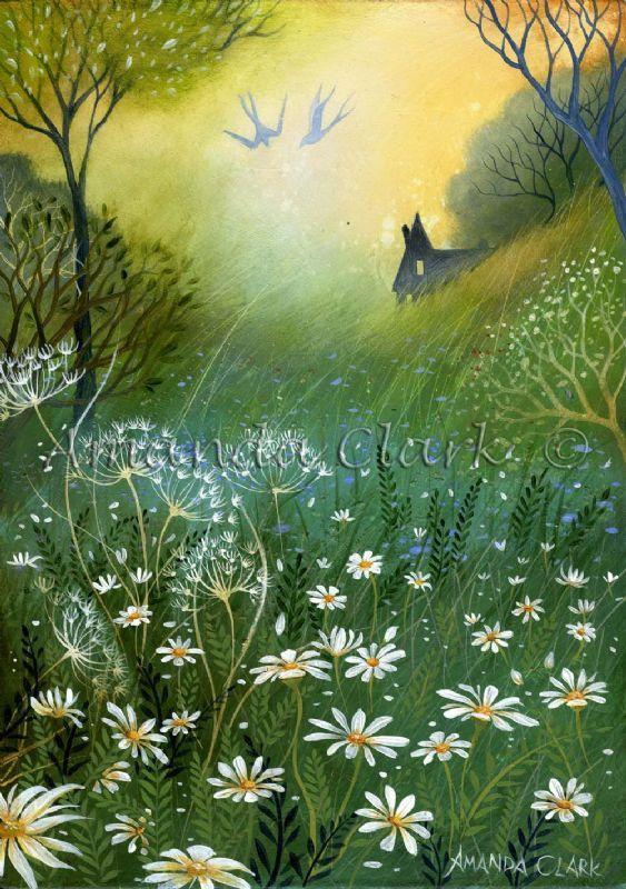 Daisy Fields  -  Amanda Clark- art gallery, original paintings