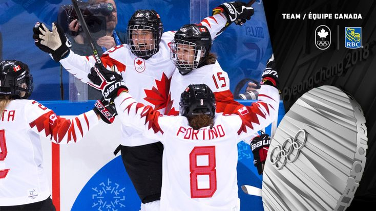 Silver medal for Team Canada in women's hockey