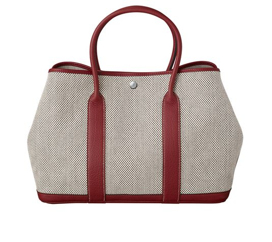 birkin purses prices - Garden Party Bag in ecru/graphite criss-cross canvas and Hermes ...