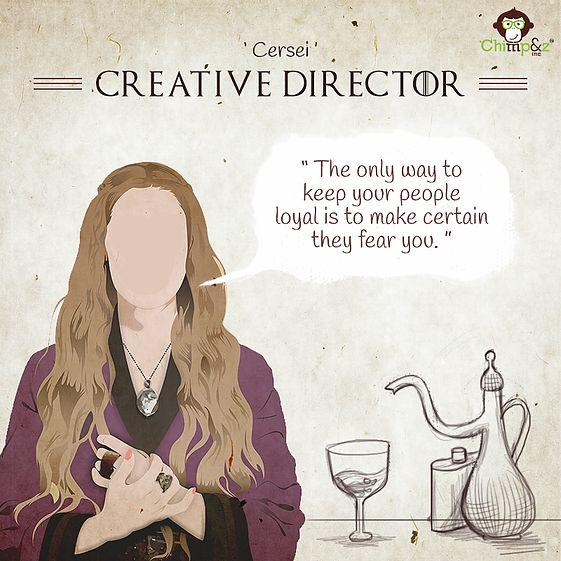 Game of Thrones karakterleri reklam sektöründe çalışsaydı görevleri ne olurdu?