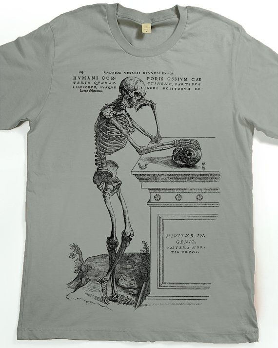 Men's Shirt - Skeleton T-shirt - Skull Tshirt - graphic tee
