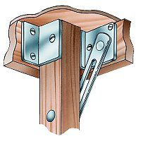 """Card Table Leg Brackets -  $22.99/pair.  Requires minimum apron height of 1 1/2"""""""
