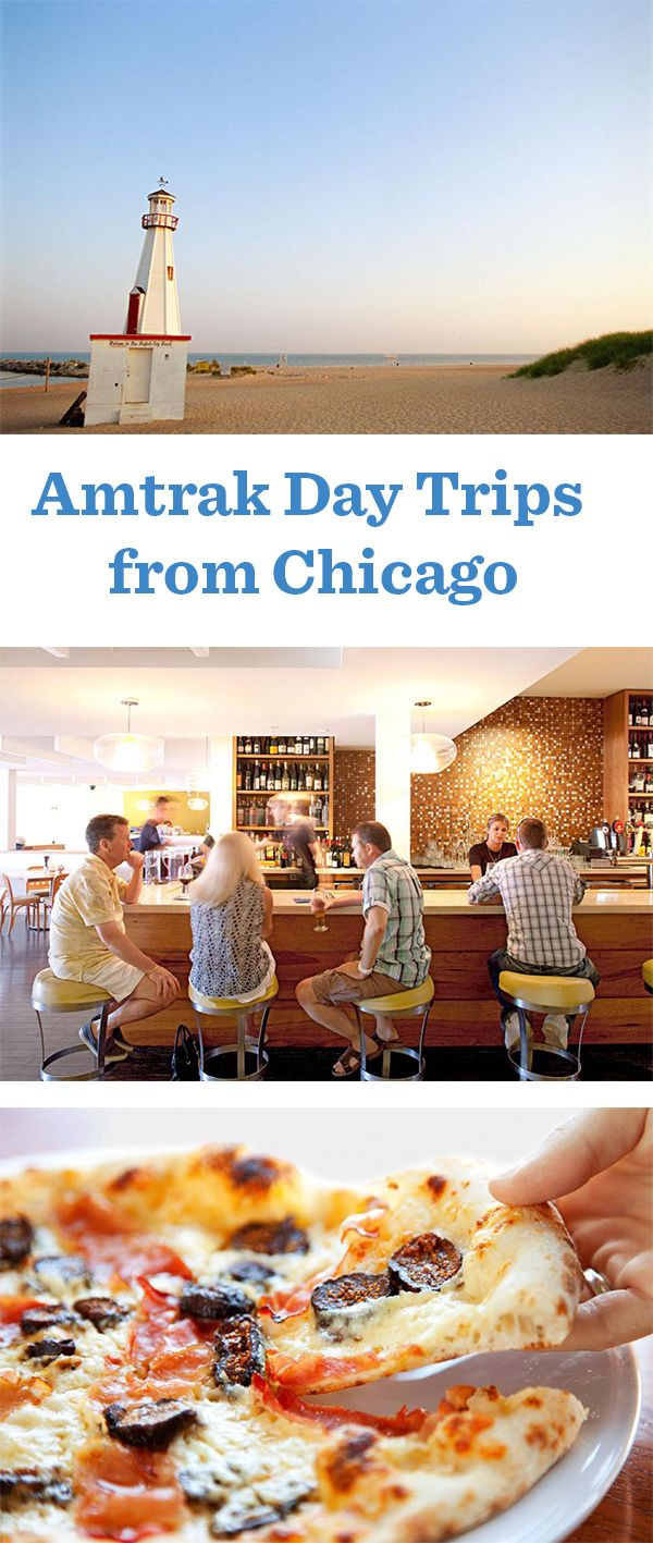 Forget about day-trip traffic and parking hassles. Hop aboard an Amtrak train from Chicago's Union Station, and in just 90 minutes, you'll be exploring a new-to-you beach, brewery or stadium.