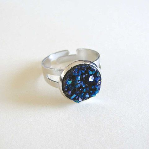 Faux Druzy Ring - Royal only $5 @ OMG! Cute Kitten - Australian Handmade Jewellery