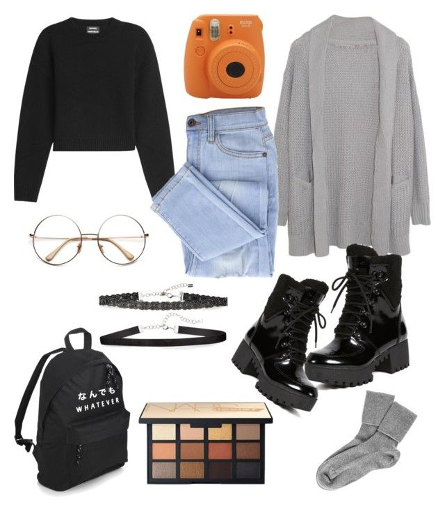 """""""Untitled #193"""" by rusnerusnerusne ❤ liked on Polyvore featuring Fujifilm, Margaret O'Leary, Anthony Vaccarello, Kendall + Kylie, Chan Luu and Black"""
