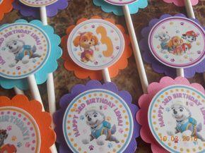 Paw Patrol Cupcake Toppers-Paw Patrol Toppers-Paw Patrol Birthday decorazione-Paw Patrol partito decorazione-zampa Patrol festa