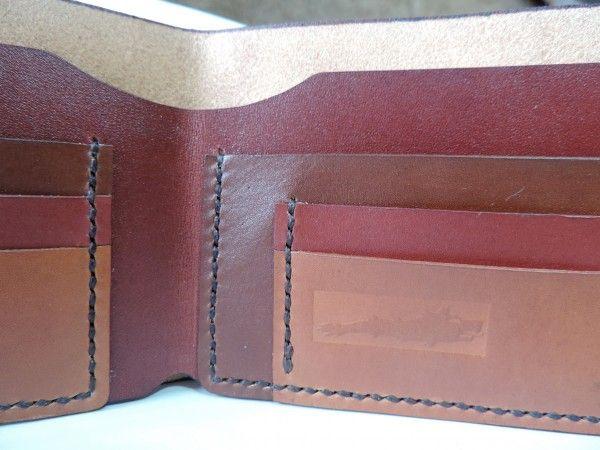 Handmade leather wallet, draco, ancient Dacian symbol