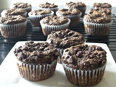 Fudgy Chocolate Banana Flax Muffins | Dessert before dinner? Yes, pl ...