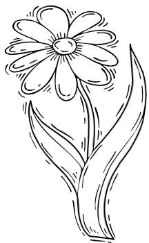 Daisy+drawing Daisy Flower coloring page Super