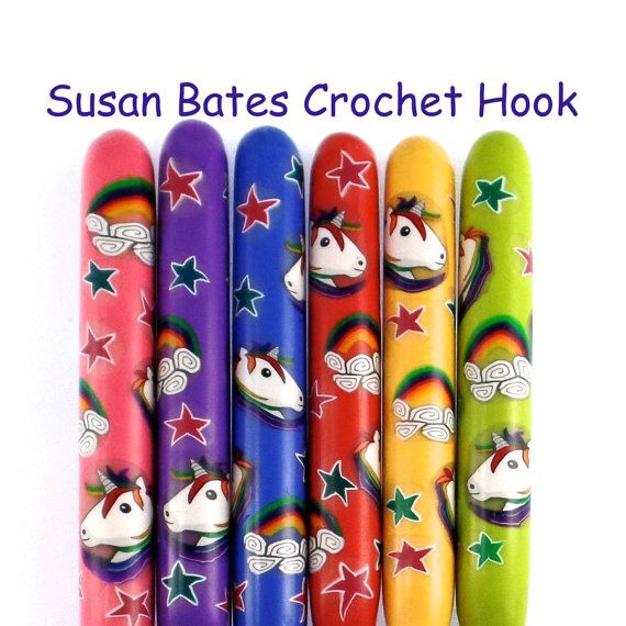 Susan Bates Polymer Clay Covered Crochet Hook by polymerclayshed