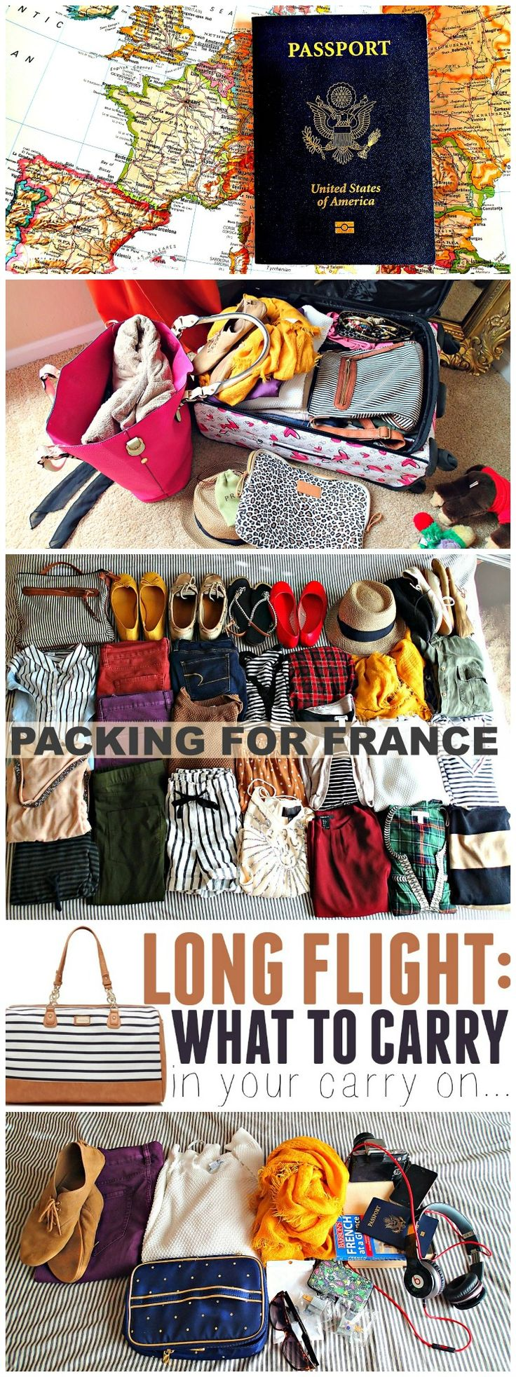 How to Pack for Paris: Make Up, Carry on, & Suitcase! #Travels #Wanderlust #TravelTips