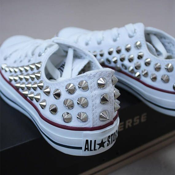 Genuine CONVERSE All-star low-top studed Sneakers Sheos High-quality