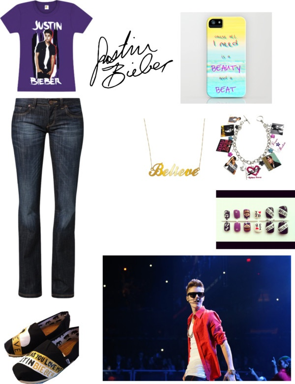 """""""Justin Bieber Concert"""" by chandlerdalton ❤ liked on Polyvore"""