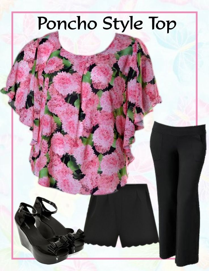 City Style Chic - Poncho Style Dark Pink Floral Top, $35.50 AUD.  Free standard shipping within Australia. (http://www.citystylechic.com.au/new-arrivalsponcho-style-dark-pink-floral-top)