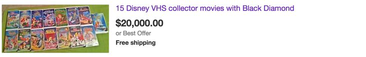 Could Your Disney VHS Tapes Really Be Worth Thousands Of Dollars?