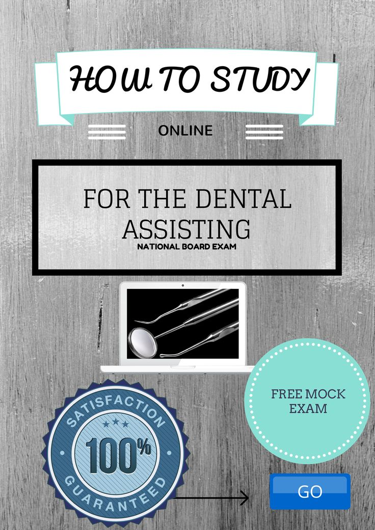 How to pass the national dental assisting board exam! Easy and Online - www.dentalelle.com