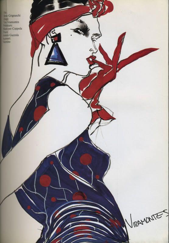 TONY VIRAMONTES FOR VALENTINO MARCH 1984 VOGUE ITALIA