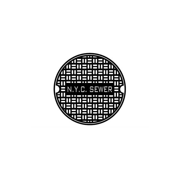 TONKY NYC Manhole wall decal, black - Hayden-Harnett - Polyvore