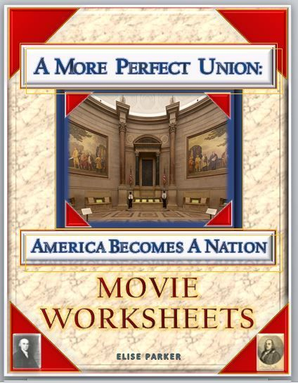 A More Perfect Union Worksheets help students demonstrate what they are learning about the Constitutional Convention. The movie features portrayals of Madison, Adams, Washington, Franklin and really brings the Philadelphia Convention to life in all its messy glory. These worksheets can also double as a More Perfect Union test or quiz.
