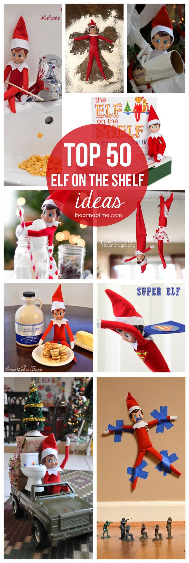 Top 50 Elf on the Shelf ideas on iheartnaptime.com ...these are the best Ive seen!