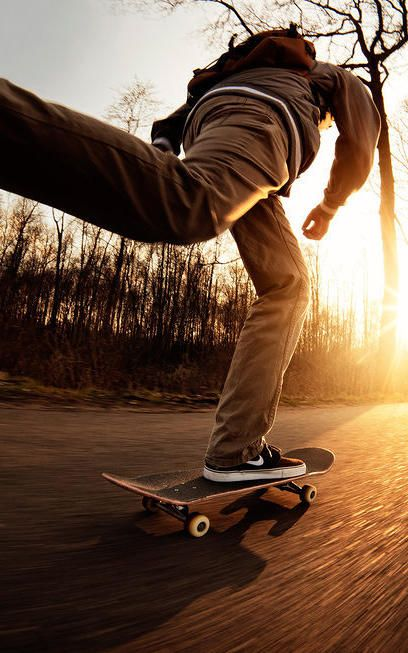 sports 8: if we ever wanted to cover longboarding we could look for this kinda lighting