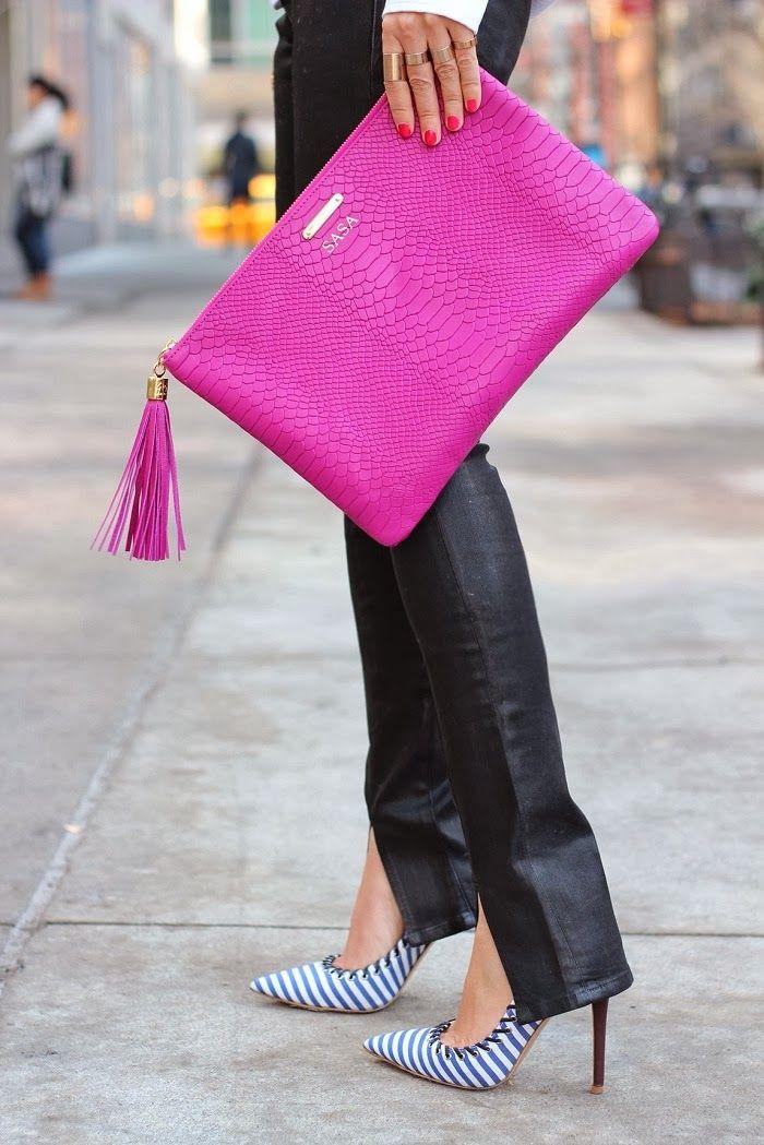 GiGi New York | Shall We Sasa Fashion Blog | Magenta Uber Clutch