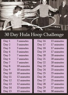 30 day hula hoop challenge